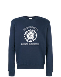 Sweat-shirt imprimé bleu marine Saint Laurent