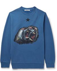 Sweat-shirt imprimé bleu