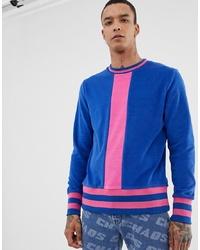 Sweat-shirt imprimé bleu ASOS DESIGN