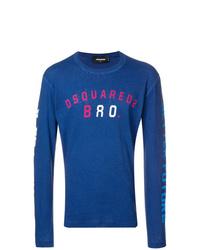 Sweat-shirt imprimé bleu DSQUARED2