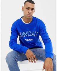 Sweat-shirt imprimé bleu Jack & Jones