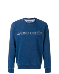 Sweat-shirt imprimé bleu Jacob Cohen