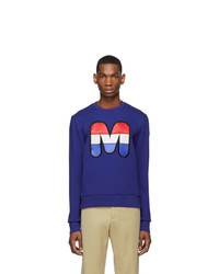 Sweat-shirt imprimé bleu Moncler