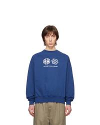Sweat-shirt imprimé bleu Rassvet