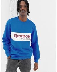 Sweat-shirt imprimé bleu Reebok