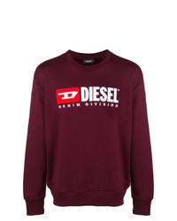 Sweat-shirt imprimé bordeaux Diesel