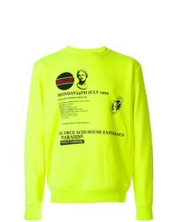 Sweat-shirt imprimé chartreuse McQ Alexander McQueen