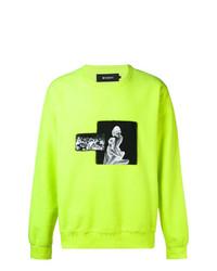 Sweat-shirt imprimé chartreuse Misbhv
