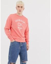 Sweat-shirt imprimé fuchsia Calvin Klein