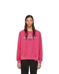 Sweat-shirt imprimé fuchsia Gucci