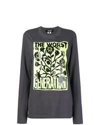 Sweat-shirt imprimé gris foncé