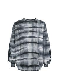 Sweat-shirt imprimé gris foncé Amiri