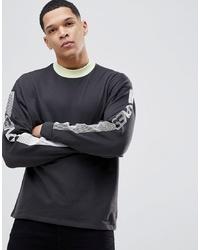 Sweat-shirt imprimé gris foncé ASOS DESIGN