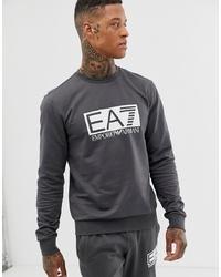 Sweat-shirt imprimé gris foncé EA7