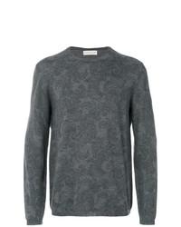 Sweat-shirt imprimé gris foncé Etro
