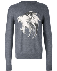 Sweat-shirt imprimé gris foncé Just Cavalli