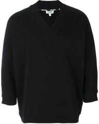 Sweat-shirt imprimé gris foncé Lanvin