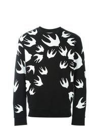 Sweat-shirt imprimé gris foncé McQ Alexander McQueen
