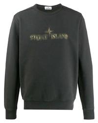 Sweat-shirt imprimé gris foncé Stone Island