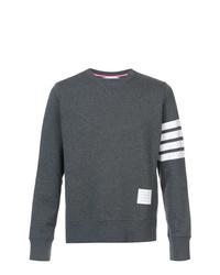 Sweat-shirt imprimé gris foncé Thom Browne