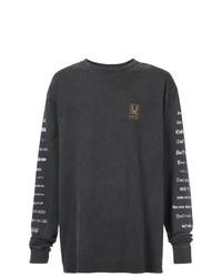 Sweat-shirt imprimé gris foncé Undercover