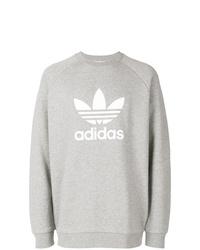Sweat-shirt imprimé gris adidas