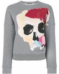 Sweat-shirt imprimé gris Alexander McQueen