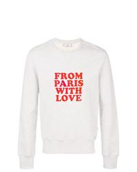 Sweat-shirt imprimé gris AMI Alexandre Mattiussi