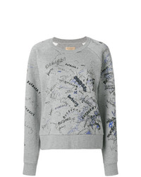 Sweat-shirt imprimé gris Burberry