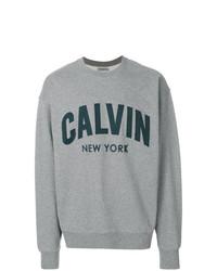 Sweat-shirt imprimé gris Calvin Klein Jeans
