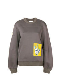 Sweat-shirt imprimé gris Chloé