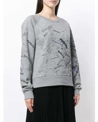 Sweat-shirt imprimé gris Burberry
