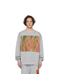 Sweat-shirt imprimé gris Dries Van Noten