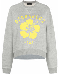 Sweat-shirt imprimé gris Dsquared2