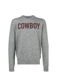 Sweat-shirt imprimé gris DSQUARED2