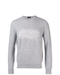Sweat-shirt imprimé gris Ermenegildo Zegna