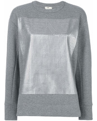 Sweat-shirt imprimé gris Fendi