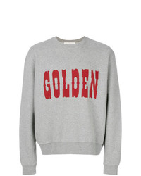 Sweat-shirt imprimé gris Golden Goose Deluxe Brand