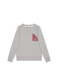 Sweat-shirt imprimé gris Gucci