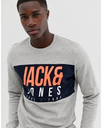 Sweat-shirt imprimé gris Jack & Jones