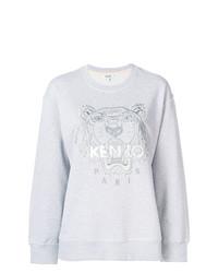 Sweat-shirt imprimé gris Kenzo