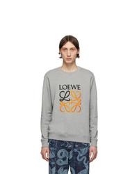 Sweat-shirt imprimé gris Loewe