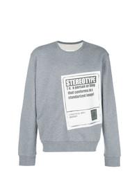 Sweat-shirt imprimé gris Maison Margiela