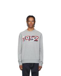 Sweat-shirt imprimé gris Moncler Genius