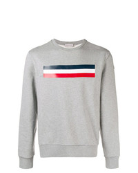 Sweat-shirt imprimé gris Moncler