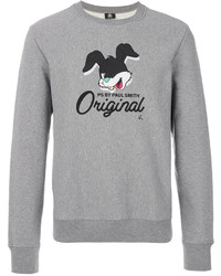 Sweat-shirt imprimé gris Paul Smith