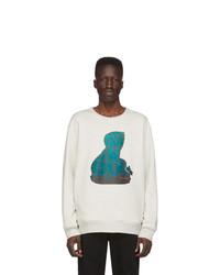 Sweat-shirt imprimé gris Rochambeau