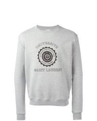 Sweat-shirt imprimé gris Saint Laurent