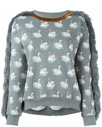 Sweat-shirt imprimé gris Stella McCartney