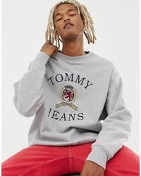 Sweat-shirt imprimé gris Tommy Jeans